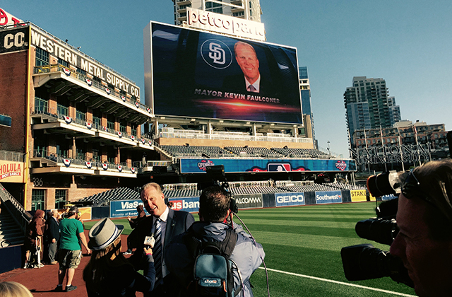 Photo at Padres Opening Day