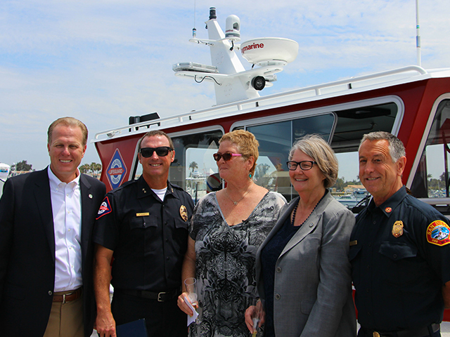 Photo of Mayor Faulconer at the Lifeboat Christening