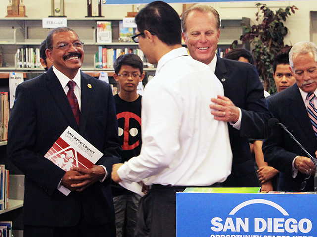 Photo of Mayor Faulconer at the Career Pathways Press Conference