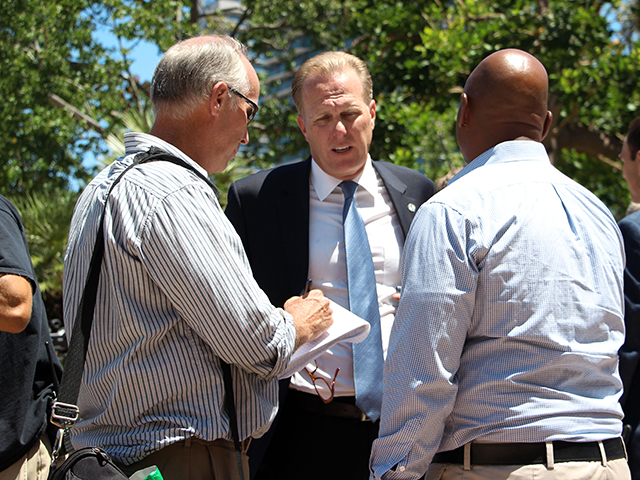 Photo of Mayor Faulconer at the NFL Update on Stadium Plans Press Conference