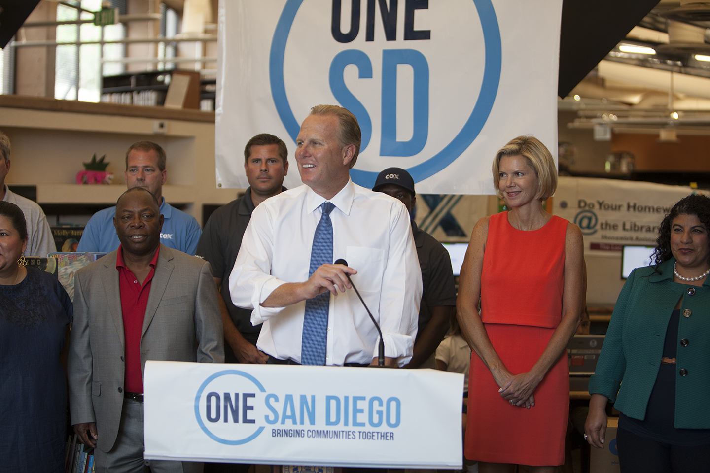Photo of One San Diego Press Conference