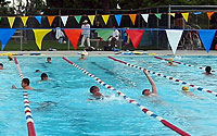 Photo of Swim Team in Pool