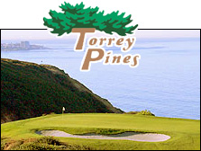 Photo of Torrey Pines Golf Course and Logo
