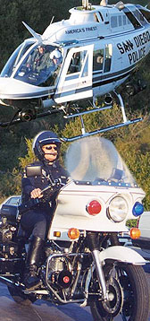Photos of Police Helicopter and Traffic Officer