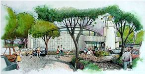 Illustration of Mission Valley Branch Library