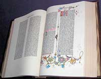 Facsimile edition of the Gutenberg Bible Image