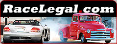 Image of RaceLegal.com Logo and Cars