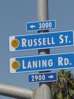 Photo of Street Name Blade - Russell st