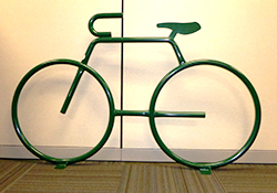 Photo of green bike rack