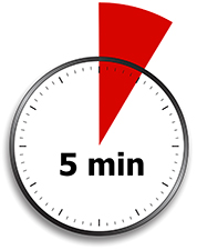 Image of 5 minutes clock