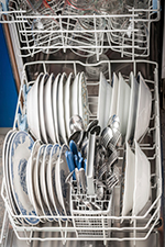 Photo of loaded dishwasher