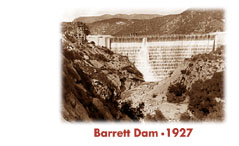 Picture of Barrett dam - 1927