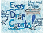 Image of Every Drip Counts Poster