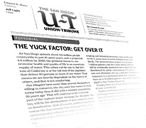 The Yuck Factor:Get Over It