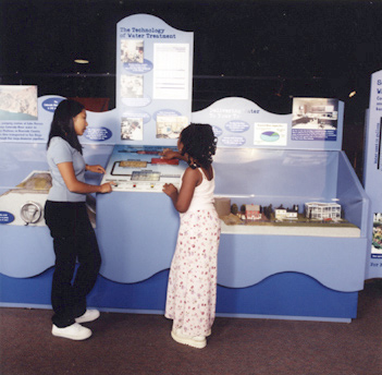 Photo of water exhibit on display