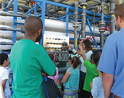 Photo of People on a Tour of a Water Purification Facility