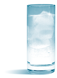 Photo of Glass of Water with Ice Cubes
