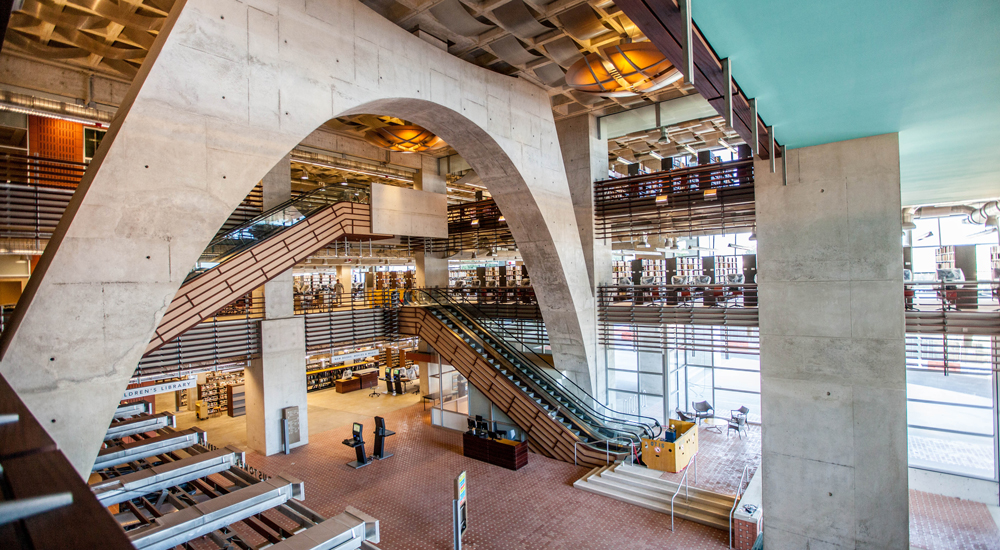 Photo of the lobby at the Central Library.