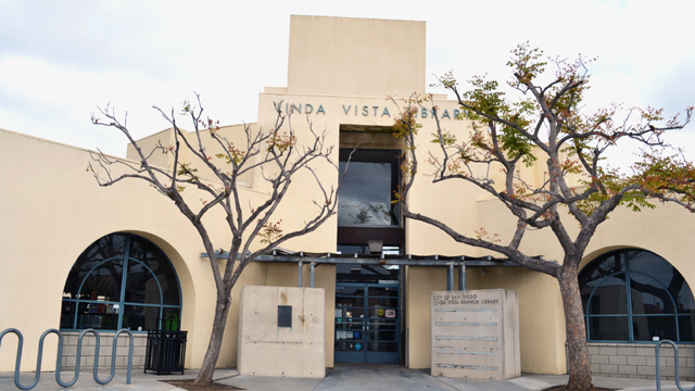 Front area outside the Linda Vista Library