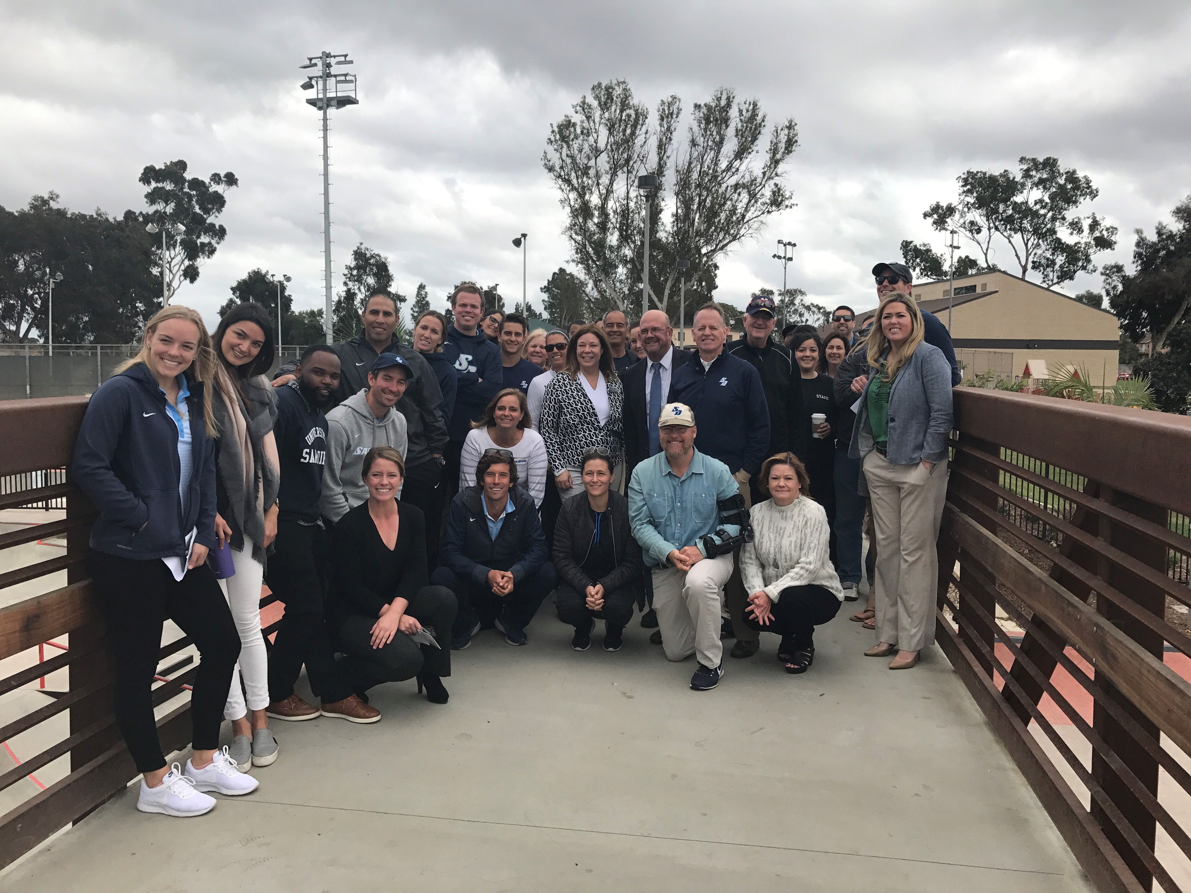 USD athletes on tour of Linda Vista Skate Park