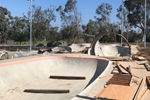 Linda Vista Skate Park construction