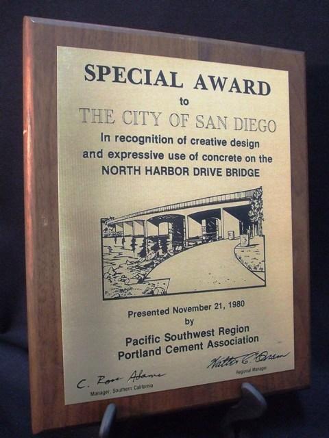 N Harbor Drive Bridge Plaque City Of San Diego Official Website