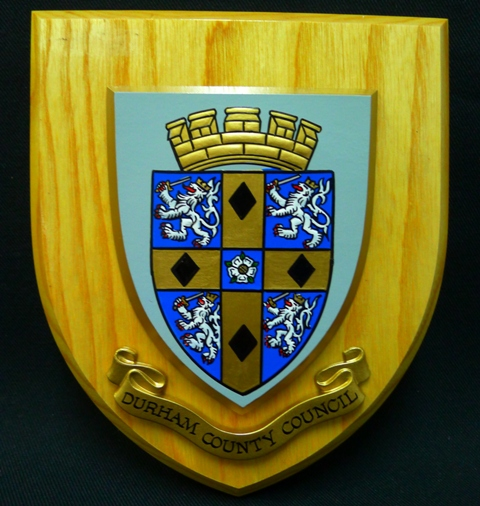 Plaque - Durham County Coat of Arms | City of San Diego