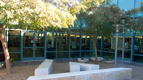 Courtyard at the Mira Mesa Library