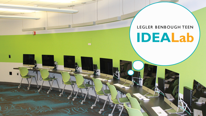 Photo of the Legler Benbough Teen IDEA Lab at the Malcolm X Library
