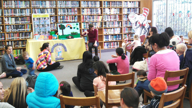 Story time at the North Clairemont Library