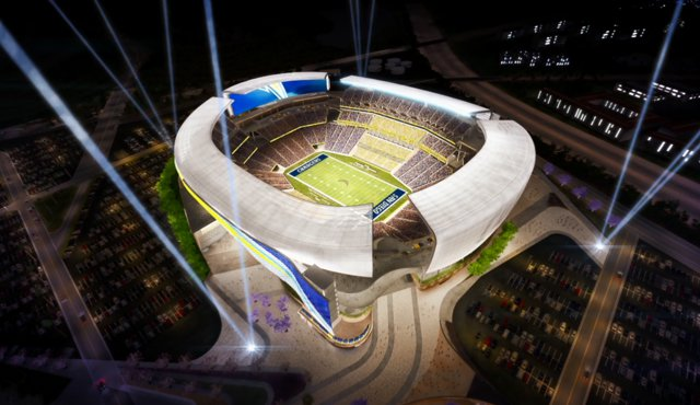 Rendering of the proposed Mission Valley Stadium