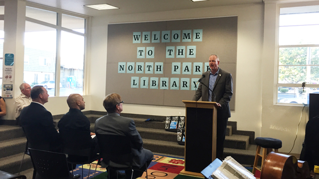 Open house the North Park Library