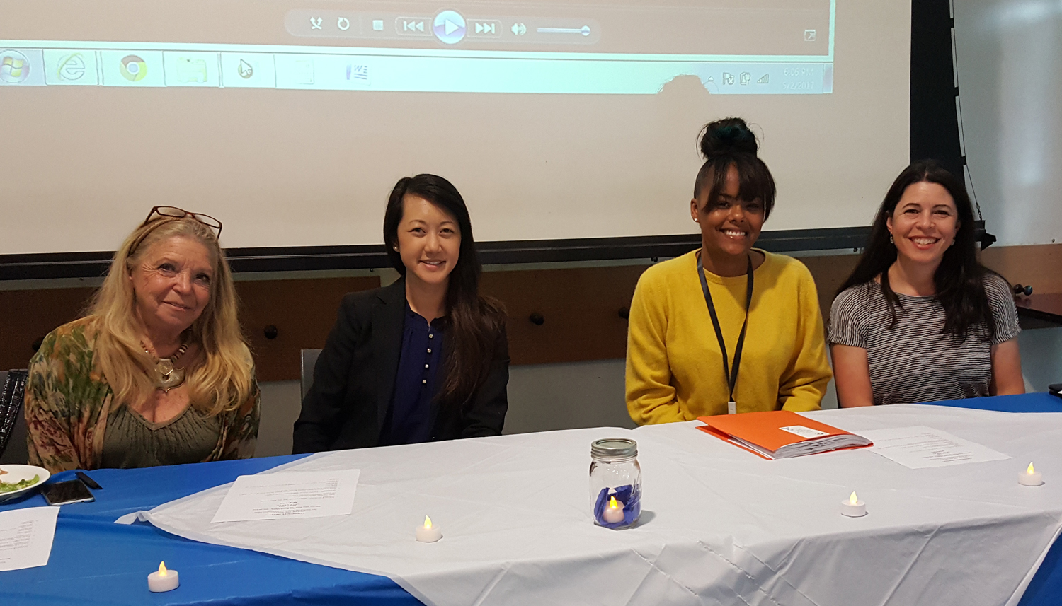Photo of Special Guest Speakers (L to R):  Marisa Ugarte, Joanna Tol, Ebony Jones, and Anne Marie Council.