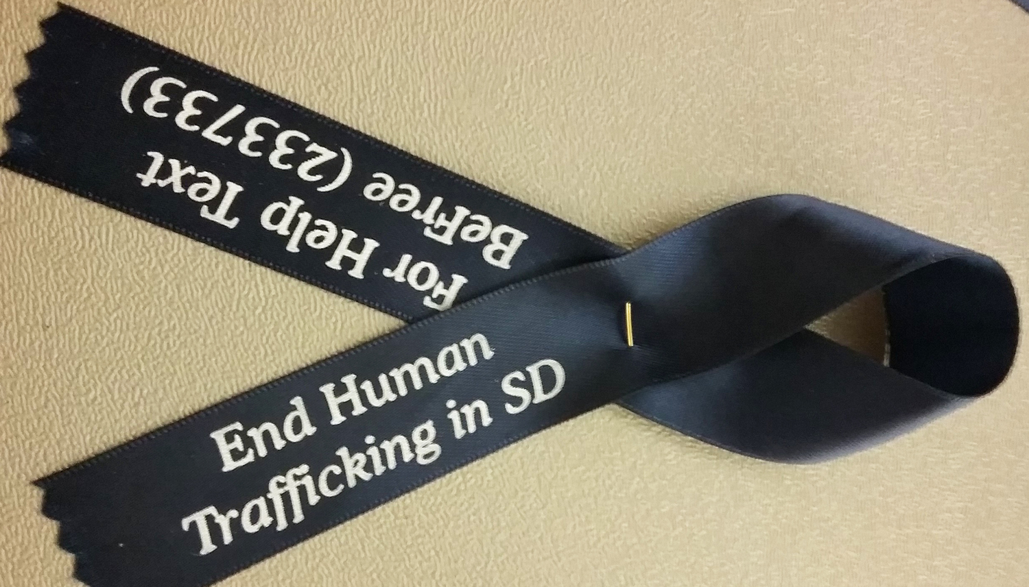 End Human Trafficking in San Diego ribbon