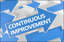 Photo of Continuous Improvement Arrow