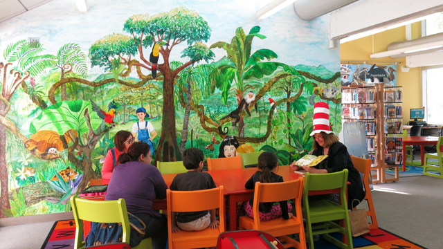 Children's Area inside the Otay Mesa-Nestor Library