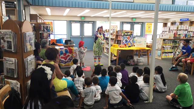 Story time at the Paradise Hills Library