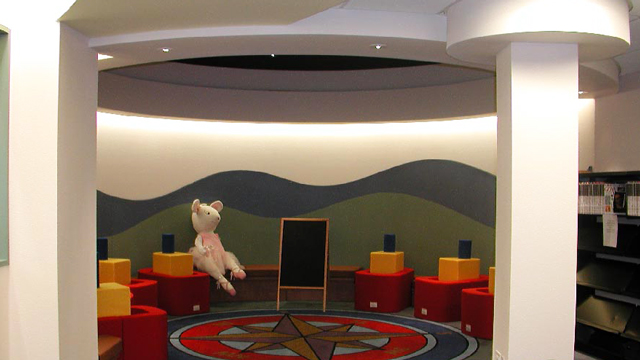 Children's playroom at the Point Loma/Hervey Library