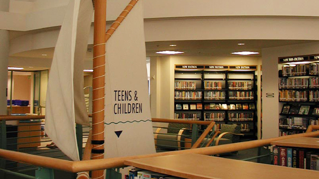 Teens and Children Space at the Point Loma/Hervey Library