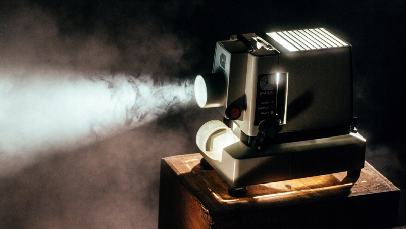 Photo of vintage projector
