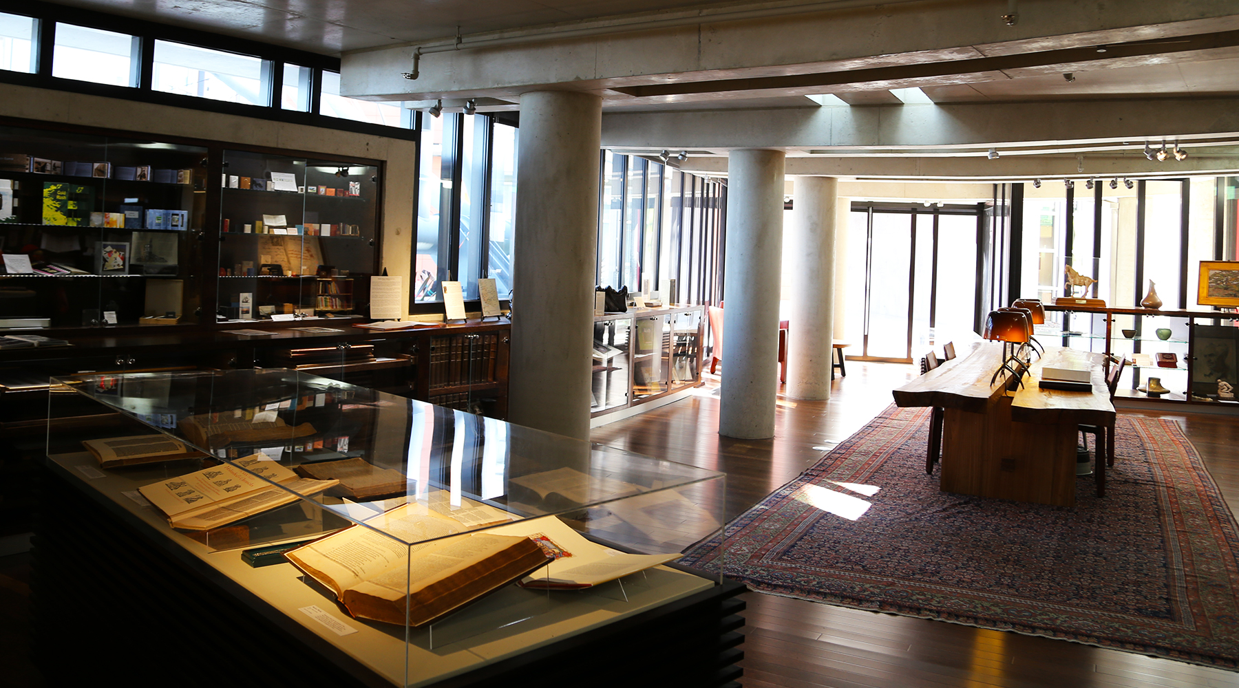 Photo of the interior view of the Hervey Family Rare Book Room located on the 9th floor of the Central Library.