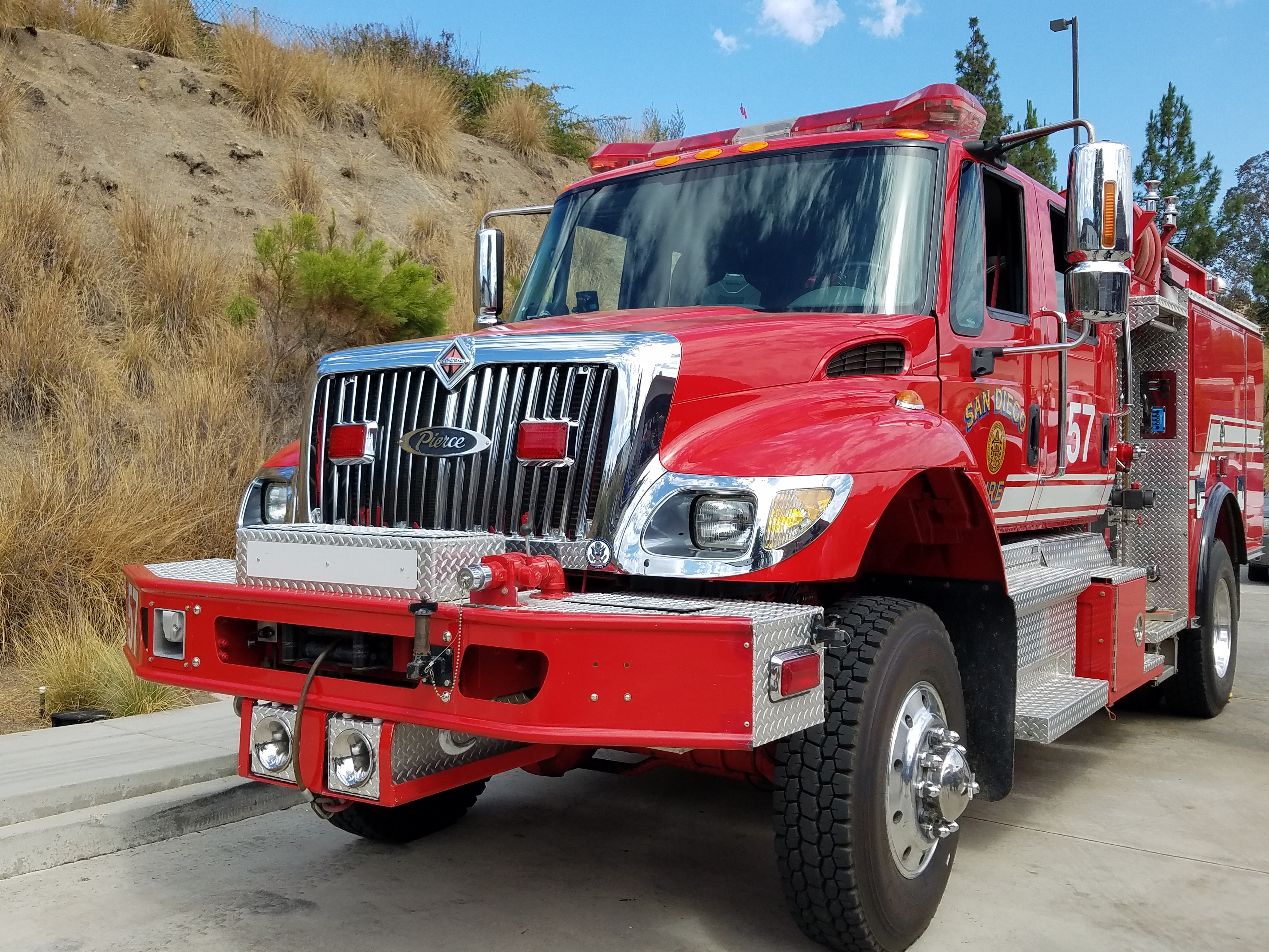 Brush Fire Engine #57 Serving San Pasqual Valley