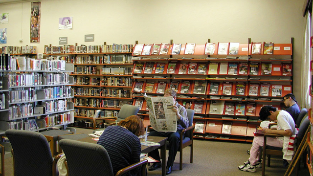 Reading area at the San Carlos Library