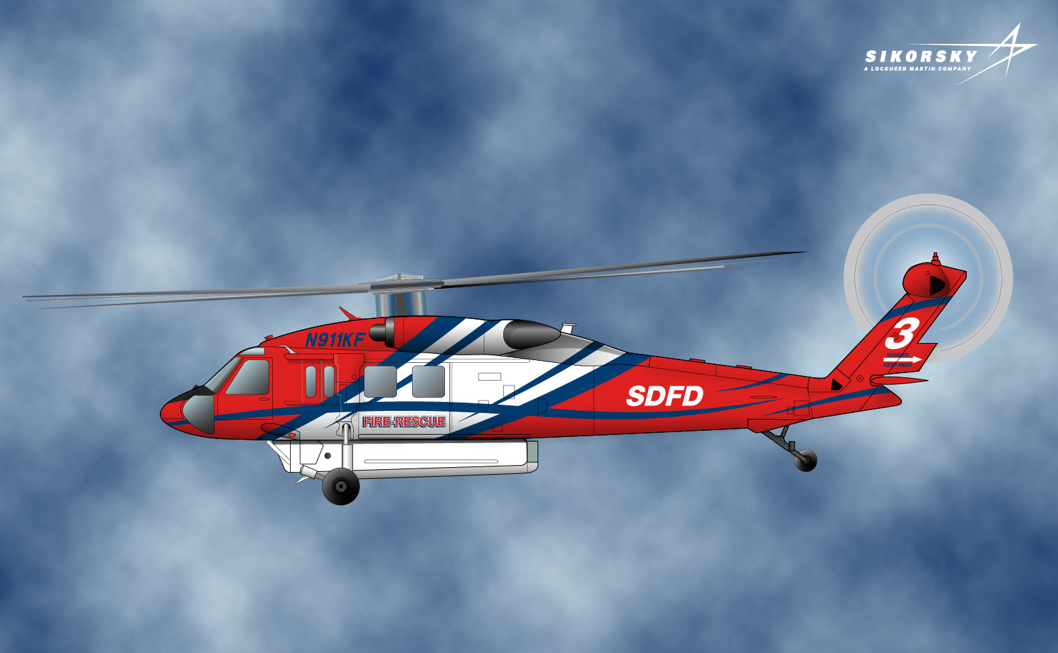 San Diego Fire Department Helicopter Rendering