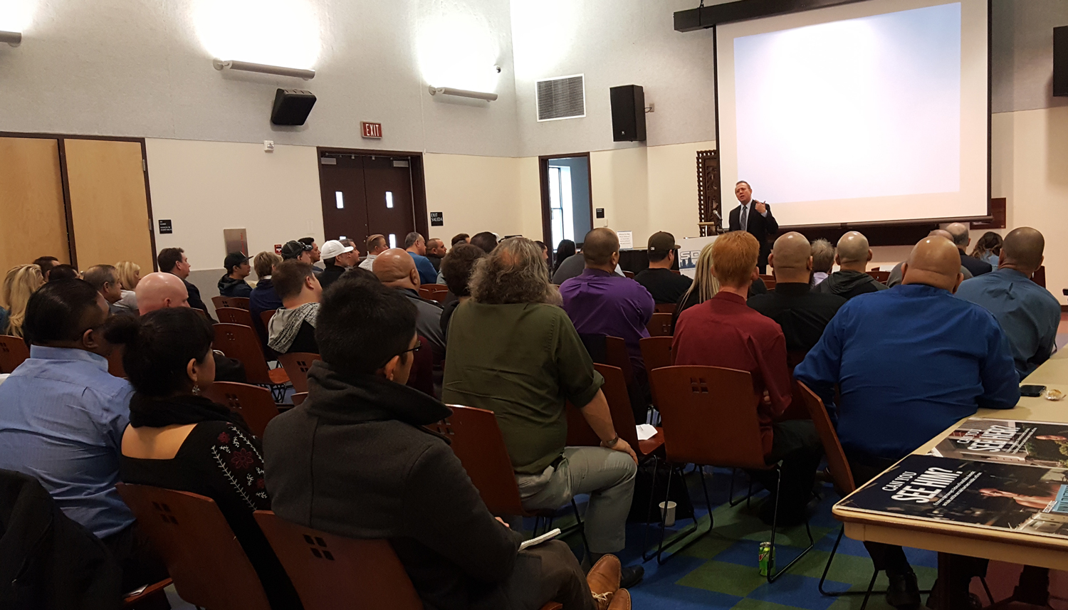 Photo of participants at the U.S. Department of Homeland Security Training:  Raising Awareness on Human Trafficking at the Logan Heights Library.