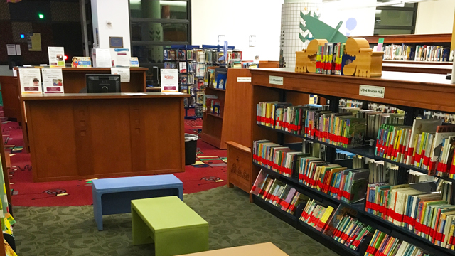 Children's area at the Serra Mesa-Kearny Mesa Library