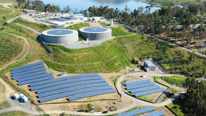 Solar panels at Otay Water Treatment Plant