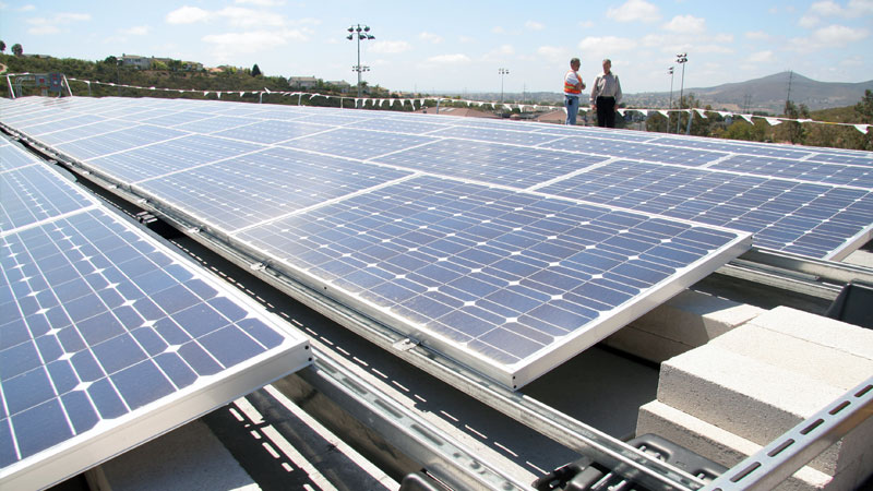 Solar panels at Scripps Ranch Recreation Center