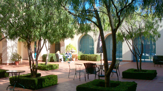 Patio at the Scripps Miramar Ranch Library