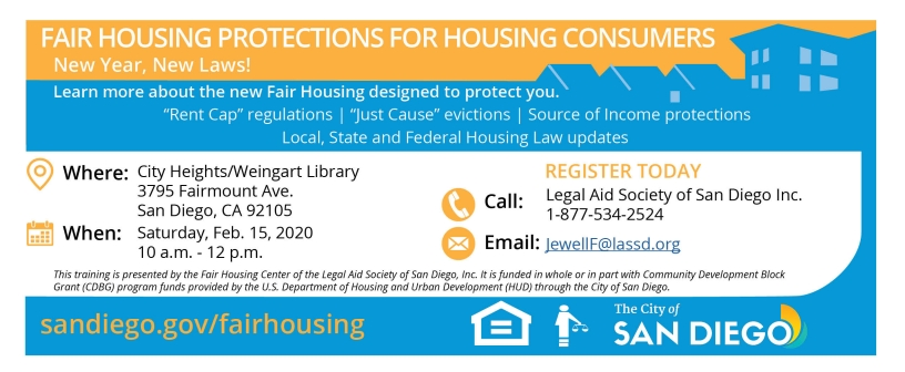 Feb 15 2020 Fair Housing Protections for Housing Consumers